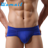 Womail Trunks Sexy Underwear Men Men's Briefs Shorts Bulge Pouch soft Underpants Solid color