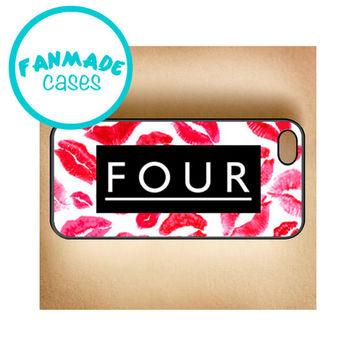Four Lipstick iPhone 4/4s/5/5s/5c/6/6 Plus, iPod 4/5, Samsung Galaxy s4/s5 Rubber Case by FanMadeCases