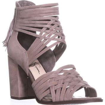 Jessica Simpson Reilynn Braided D'Orsay Sandals, Warm Taupe, 7 US / 37 EU