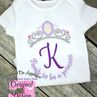 Sophia the First Princess Inspired Monogram Tiara with Phrase - Princess Movie - Custom Tee