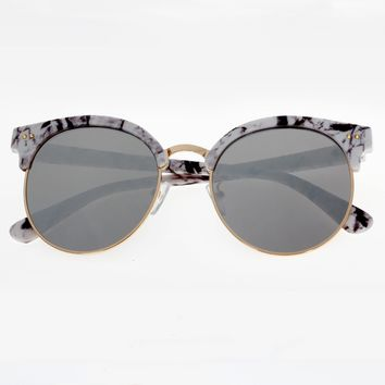 Marble Grain Vintage Retro Sunglasses