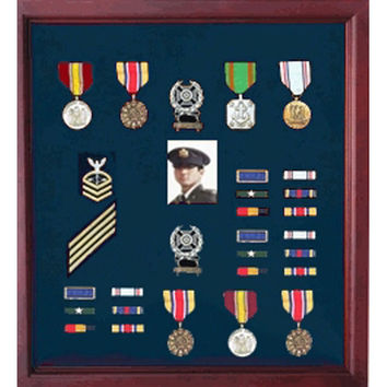Military Medal Case, Shadow Box photo Holder, Military Medal Hand Made By Veterans