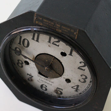 Vintage Industrial Clock, Universal Time Switch Co, Cleveland Ohio