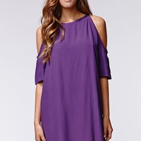 Motel Rocks Savannah Dress - Womens Dress - Purple