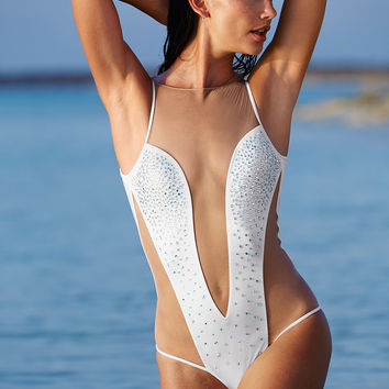 Rhinestone Mesh One-piece - Victoria's Secret
