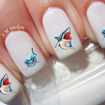 54 Sharks Nail Decals