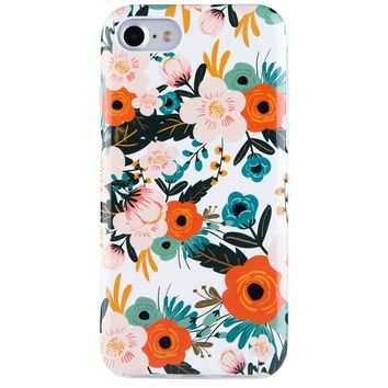 iPhone 7 Case for Girls, iPhone 8 Case Flower, Dimaka Floral Pattern Vintage Case [Floral Cover][High Impact][Hybrid 2 Layers] Case for iPhone 7 and iPhone 8 (Obsession Camellia)