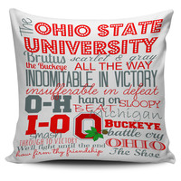 """Ohio State Sayings 18"""" Pillow Cover"""