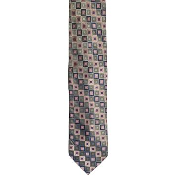 Tango Checkered Wide Silk Tie - Multicolor