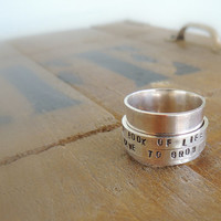 Sterling Personalized Spinner Ring Sterling Fiddle by MoodiChic
