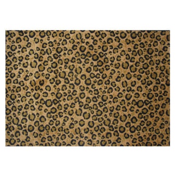 "Supreme Leopard Skin 5'x7'3"" Area Rug New"