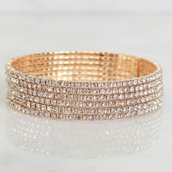 Blinged Out Crystal Bracelet Gold