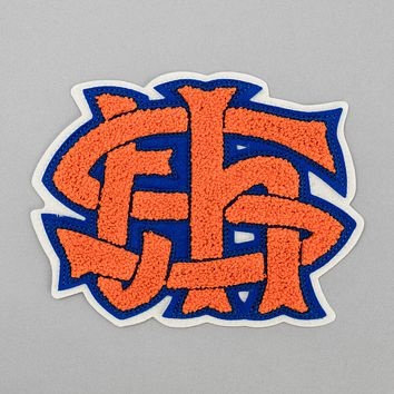 "TH-S Monogram Chenille Patch, ""Mets"""