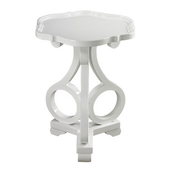 Knockeen Gloss White Accent Table by Sterling