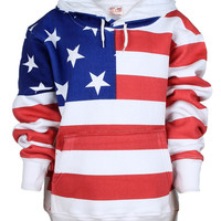 American Flag Full Body Adult Hooded Sweatshirt