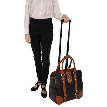 """""""THE A-LIST OSTRICH"""" Rolling  iPad, Tablet or Laptop Tote Carryall Bag (fits up to 17"""" laptop)"""