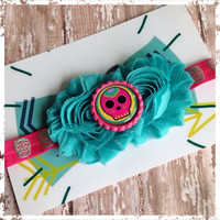 Sugar skull calavera stretch headband~ perfect for most ages~ great photo prop