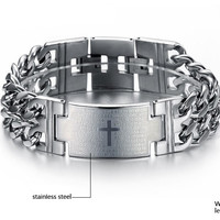 Bible Print 316L Stainless Steel Bracelet