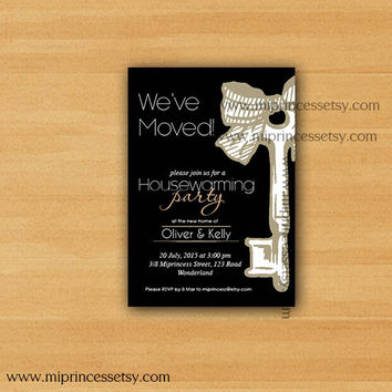 housewarming invitation, key, party invites,  New house KEY design Invitation Card | We have moved Invitation Card Design - card 191