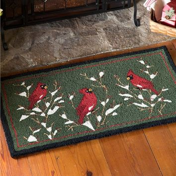 Cardinal Hooked Wool Rug | Accent Rugs
