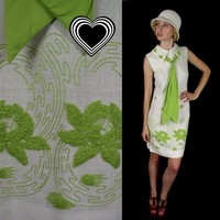 Free Shipping vtg 60s Lime EMBROIDERED mod by TigerlilyFrocks