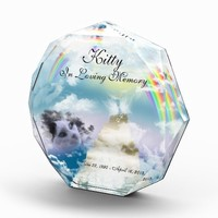 Heavenly Rainbow Pet Cat Memorial