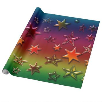 Rainbow Stars Wrapping Paper