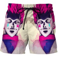 Cosplay Hunter X Hunter HISOKA 3D Print Beach Shorts Summer Men Surf Sports Short Pants Quick Dry Mesh Board Shorts Trunks
