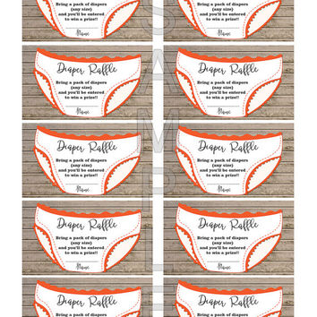 Baby Shower Games Diaper Raffle Ticket Diaper Raffle Card Printable Digital Files (0A1) Instant download