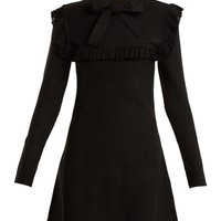 Ruffle-trimmed tie-neck stretch-knit dress | JoosTricot | MATCHESFASHION.COM US