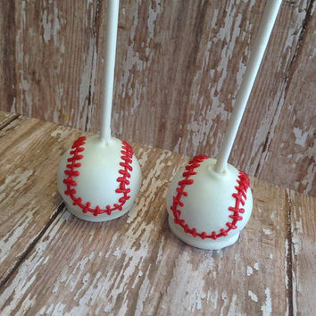 12 Baseball Themed Cake Pops Sports Party Sweets Table Candy Buffet Party Favors Team Sports
