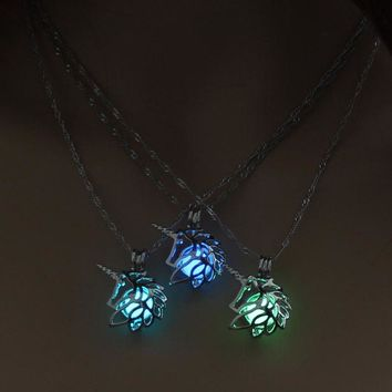Magical Unicorn Pendant Glow in the Dark Necklace