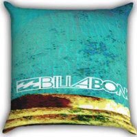 Billabong Surf Artwork Clothing A0144 Zippered Pillows  Covers 16x16, 18x18, 20x20 Inches