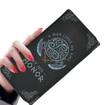 'A Man Lives or Dies by His Honor' (Norse / Viking) Women's Clutch Purse Wallet