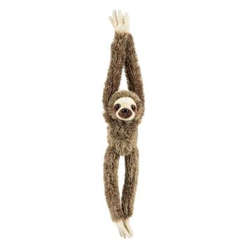 20 Inch Hanging Three-Toed Sloth Stuffed Animal Zoo Plush