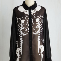 Skulls Mid-length Long Sleeve Magnum Corpus Top