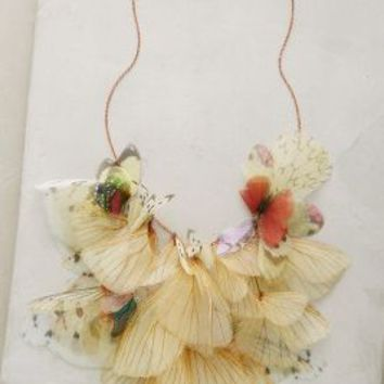 Derya Aksoy Organza Flutter Necklace in Neutral Motif Size: One Size Necklaces