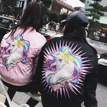 Moschino Unicorn Fashion Cute Bomber Jacket