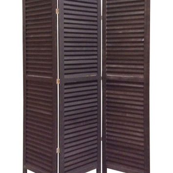 Screen Gems Shutter Screen Room Divider, Black