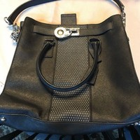 MICHAEL KORS HAMILTON BLack Tote Shoulder Bag