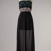 Tribal Detail Maxi Dress