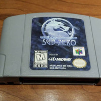 Mortal Kombat mythologies Sub Zero  Nintendo 64 n64 system video game