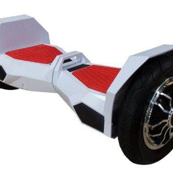 "UL 2272 M38 All Terrain 10"" Lambo Bluetooth White/Red Hoverboard Smart Self Balancing Electric Scooter v5"