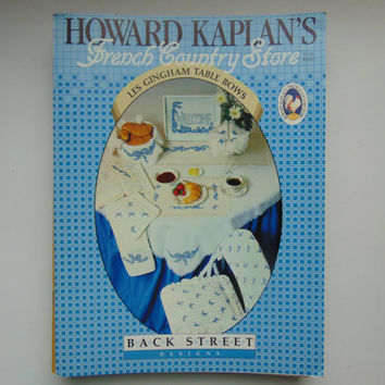 Howard Kaplan's French Country Store Les Gingham Table Bows Cross Stitch