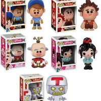 FUNKO POP! DISNEY: WRECK IT RALPH - SET OF 5 INCLUDING THE BRAND NEW TURBO