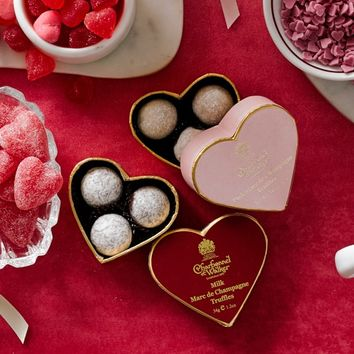 Charbonnel Valentine's Day Champagne Chocolate Truffles, Set of 2
