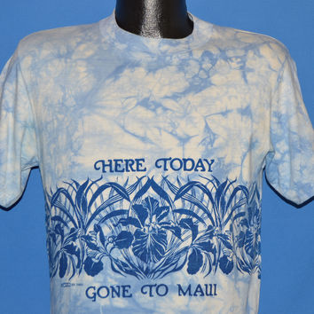 80s Here Today Gone to Maui Tie Dye Crazy Shirts t-shirt Medium