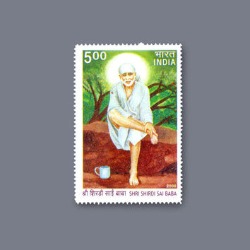 postage stamp for collection Antique vintage Stamp Shri Shirdi SAI BABA. mnh INDIA 2008 world famous mint copy very rarely to find!