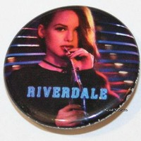"""Licensed cool CW RIVERDALE High Cheryl Blossom 1 1/4"""" Button Pin Back Pinback Licensed NEW"""