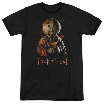 Trick R Treat Sucker Black Ringer T-Shirt